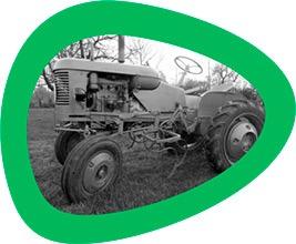 Tractor para recoger residuos